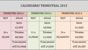 CALENDARIO MESTRADO 2015
